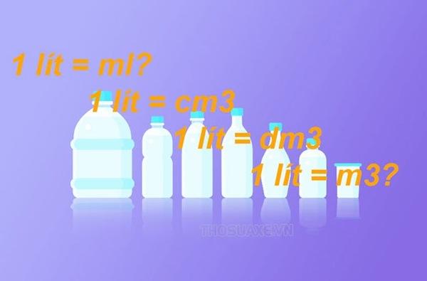 1 lít bằng bao nhiêu ml