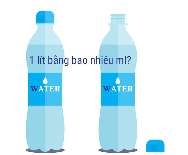 1 lít bằng bao nhiêu ml. Công thức quy đổi từ lít sang mililit